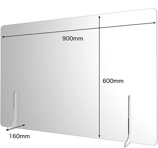 アクリル仕切板900×600半透明