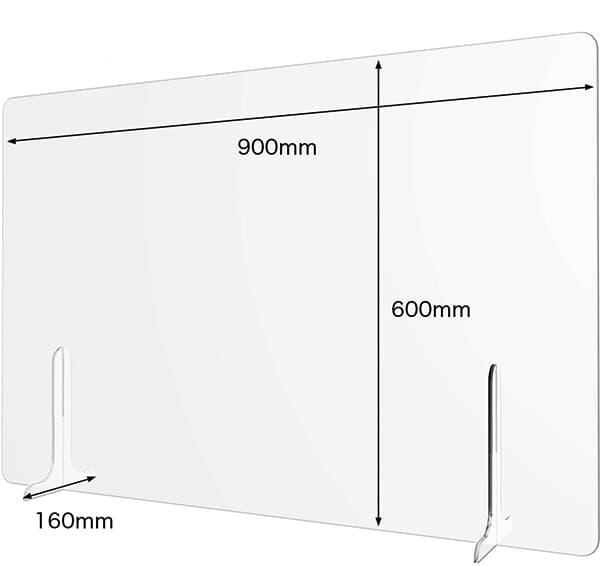 アクリル仕切板900×600窓無